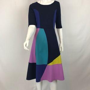 Boden Color Block Dress 8L